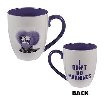 universal studios despicable me minion two eyes purple coffee mug new