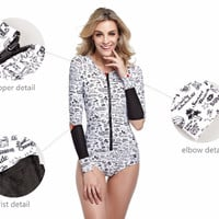 swimsuit women one piece swimsuit  long sleeve Plus Size swimwear women sexy Swimwear one piece bathing suits swimming suit -03115