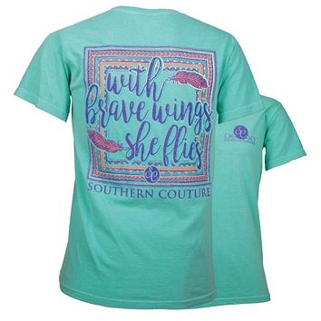 Southern Couture She Flies on Feathers Comfort Colors T-Shirt