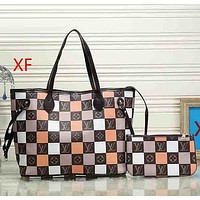 Women Fashion Leather Handbag Satchel Set Two-Piece