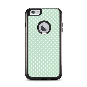 The Light Green with White Polkadots Apple iPhone 6 Plus Otterbox Commuter Case Skin Set