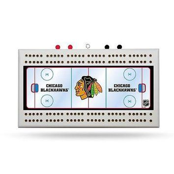 Chicago Blackhawks NHL Licensed 2 Track Cribbage Board