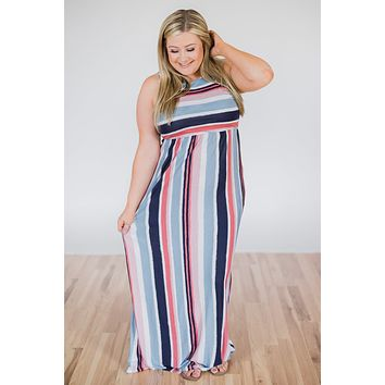 Sun Rays & Beach Days Striped Maxi Dress