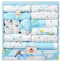 15pcs/set high quality 100% cotton newborn baby clothing gift sets infants cute suit baby girls boys clothes