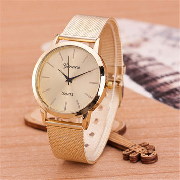 WOMEN FASHION LEOPARD GOLD WATCHES GIRL CASUAL SPORTS WATCH WITH DIAMOND GIFT 399