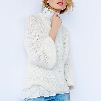 Free People Womens Alpaca Cloud Pullover
