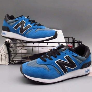 New balance Fashion Casual All-match N Words Breathable Couple Sneakers Shoes Blue G-A36H-MY