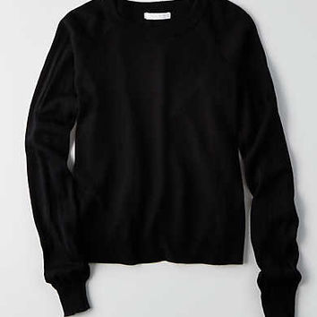 Don't Ask Why Raglan Sweater, Black