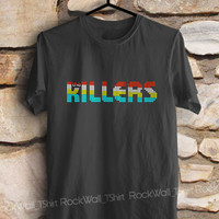 the killers shirt band t-shirt printed black and white shirt women and men shirt