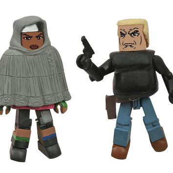 Walking Dead Minimates: Series 4 Michonne and Gabe Action Figure