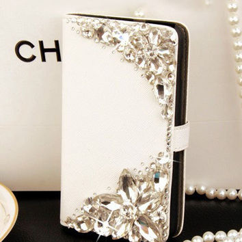 Luxury iPhone 6 wallet  iPhone 6 plus wallet iPhone 5 wallet iPhone 5s wallet crystal iPhone 5c wallet samsung galaxy s5/note2/note4 wallet