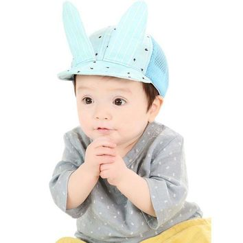 CUPUP9G Cute Baby Girls Boys Toddler Infant Mesh Hat Lovely Rabbit Ear Sun Cap Summer Fashion Sun Beach Dot Hat
