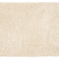"2'3""x8' Venturi Shag Runner, White, Area Rugs"