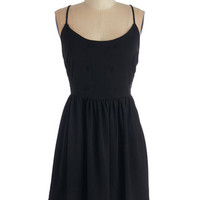 ModCloth LBD Short Length Spaghetti Straps Delightfully Detailed Dress