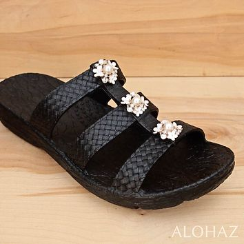 black jaya pearl jam jandals® - pali hawaii sandals
