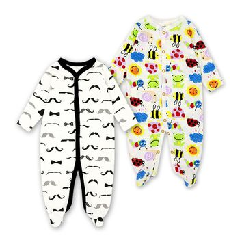 Cute Winter Baby Clothes Pajamas Newborn 2pcs/lot Baby Rompers Infant Long Sleeve Jumpsuits Boys Girl Spring Autumn bebe Clothes