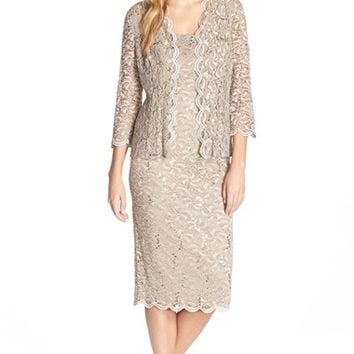 Women's Alex Evenings Lace Dress & Jacket,