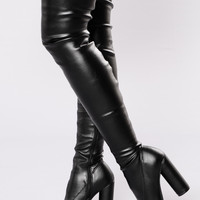 Haute Damn Boot - Black PU