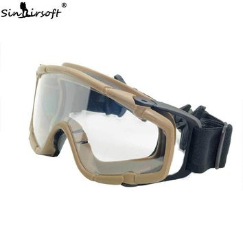 SINAIRSOFT Military Tactical FMA Goggles Shock Resistance Windproof Eyes Sports Hunting Shooting Glasses For Airsoft Helmet USMC