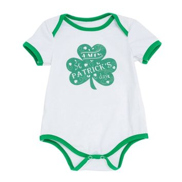 Baby Girls St. Patrick's Day Short Sleeve Bodysuit