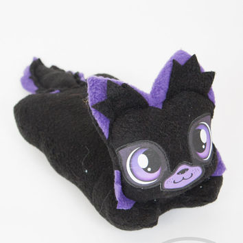 Rave Purple Wolf- Lemon Squeezies, adorable, cute, plush, lemon, mini, pillow