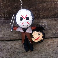Jason Friday 13  String Voodoo Doll Keyring Keychain movie cartoon Key Ring Key Chain handmade funny  Bag Car
