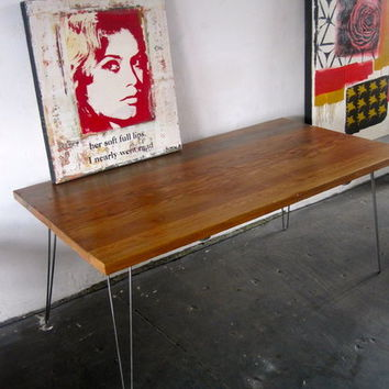 Reclaimed Wood/Metal Dining Table. Made in LA.