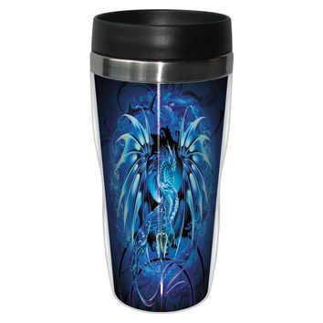 Sea Blade Travel Mug - Premium 16 oz Stainless Lined w/ No Spill Lid