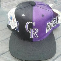 Deadstock Colorado Rockies 90s Snapback Vintage from Deadstock Dynasty