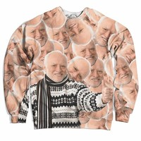Hide The Pain Harold Collage Sweater