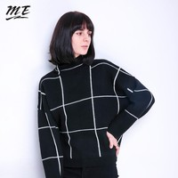 ME Women Sweater Pullovers Turtleneck Knitted Long Sleeve 2018 Winter Vintage Loose Sweaters Casual Elastic Oversized Pullovers