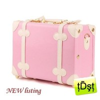 Japanese Brand Vintage Bag Cosmetic School Bag Travel Case PINK Small Case Only