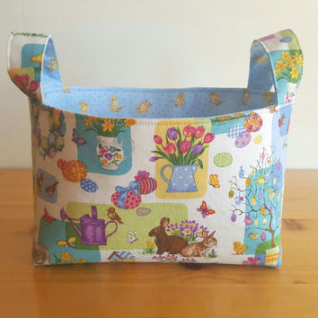 Easter Montage Medium Fabric Storage Bin Basket