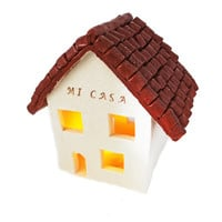 "Handmade ""Mi Casa Su Casa"" Decorative Candle Holder - Great Housewarming Gift - Unique Rustic Decor"