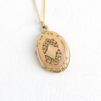 Best gold filled oval lockets products on wanelo vintage 10k yellow rose gold filled art deco floral repousse oval locket 1930s flower aloadofball Images