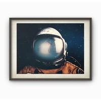 Frameless Astronaut Print Poster Print Pictures Wallpaper Paintings for Room Decor, Wall Decor Canvas Art.