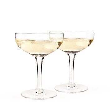 Old Kentucky Home - Glass Champagne Coupe Set by Twine