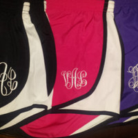 Monogrammed Running Shorts...stylish, cute and comfortable...Youth and Adult Sizes