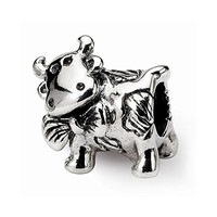 Sterling Silver s Dairy Cow Bead by Reflection Beads, Best Quality Free Gift Box Satisfaction Guaranteed