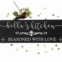 Personalized kitchen signs gifts decor items kitchen decor art gift for mom wife sister birthday wall decor gift for cook chef custom kitchen sign gift. Sign #K02