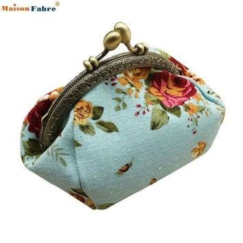 LMFIJ6 Naivety 2016 New Women Lady Retro Vintage Flower Small Wallet Hasp Purse Floral Clutch Bag Good For Gift JUL28 drop shipping