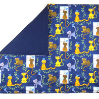 """Cats and Birds Catnip Mat 16"""" x 20"""" - Refillable/Washable"""