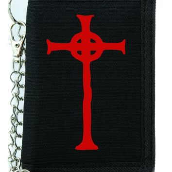 Red Vampire Hunter D Cross Tombstone Tri-fold Wallet Gothic Style Alternative Clothing