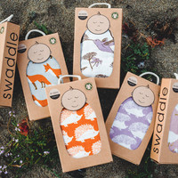 Milkbarn Organic Cotton Swaddle Blanket