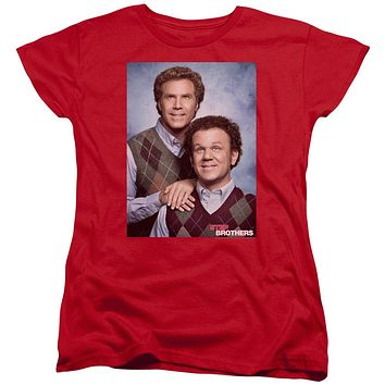 Step Brothers Womens T-Shirt Portrait Red Tee