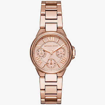 Mini Camille Rose Gold-Tone Watch | Michael Kors