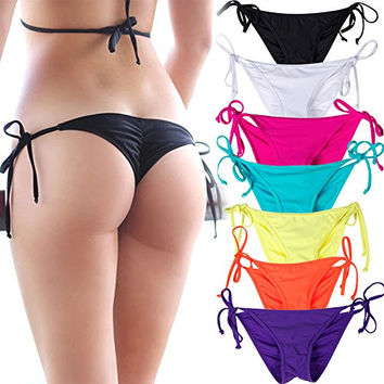 NEW Women's Swimwear Sexy Tie Side Sweet Heart Brazilian Bikini Bottom