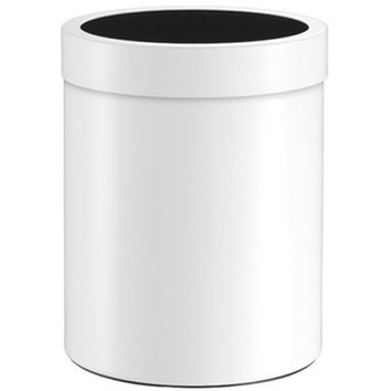 SCBA Round Stainless Steel Wastebasket Trash Can for Bathroom, Kitchen, Office