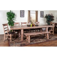 Sunny Designs Sandalwood Collection Eight Piece Dining Set