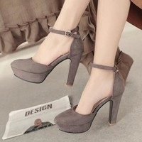 Platform Ankle Strap Pumps 3 Colors Size 3 to 12